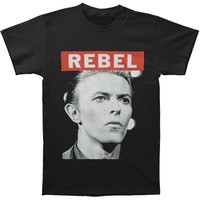 David Bowie Men's  Big Rebel T-shirt Black