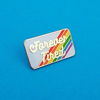 Forever Tired - Enamel Pin with Rainbow Design