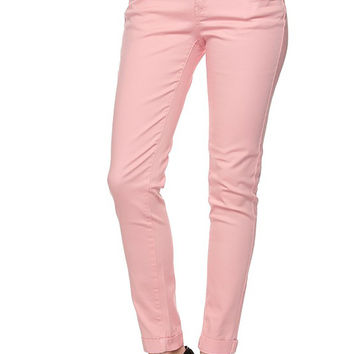 Women Skinny Cropped Stretch Slim Ankle Pant