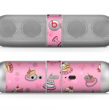 The Pink with Yummy Cakes Skin for the Beats by Dre Pill Bluetooth Speaker