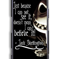 Sony Xperia Z3 Case - Hard (PC) Cover with The Nightmare Before Christmas Quotes Jack Skellington Xperia Z3 Plastic Case Design