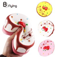 Simulation Jumbo Cream Strawberry Cake Squishy Exquisite Food Stress Toy