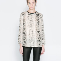 COMBINED PRINTED BLOUSE