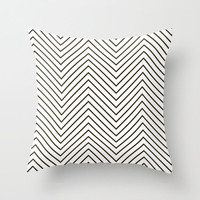 Velveteen Light Black and White Chevron Pillow - Black and White Throw Pillow - Black and White Chevron Pillow - Housewares - Housewarming