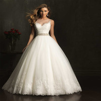 Beading with Crystal and  lace Wedding Dresses