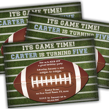 TouchDown Football Birthday Party Invitations - Football Invitation - Touch Down - All Star - Sports - Boys - Teen - Tailgate Party - Ball