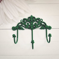 Wall Hook / French Country Wall Hook / Traditional Decor / Triple Hook / Key Hanger / Coat Hook / Organize / Ornate