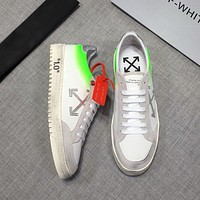 OFF-WHTIE  Fashion Men Women's Casual Running Sport Shoes Sneakers Slipper Sandals High Heels Shoes