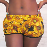 ROJAS sunflower blosson shorts by rojasclothing on Etsy