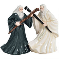 The Lord of the Rings Gandalf and Saruman Salt and Pepper Shaker Set   WBshop.com   Warner Bros.