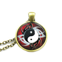Yin Yang Necklace, Yin Yang Pendant, Charm Necklace, Sister Charm Jewelry, Best Friends Necklace, Friendship Necklace, Girlfriend Gift