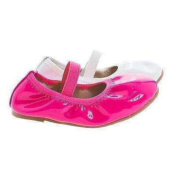Chriss01 By Dotty, Infant Girl Mary Jane Slip On Ballerina Flats