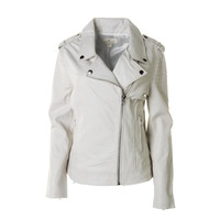 Dakota Collective Womens Leather Quilted Motorcycle Jacket