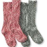 Women's Cotton Ragg Camp Socks, Two Pairs: Socks | Free Shipping at L.L.Bean