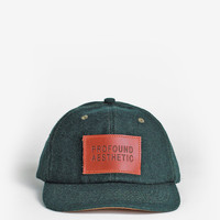 Wool Monogram Six Panel Hat in Forest