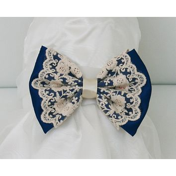 Royal Blue Dog dress, Flower girl dress , Royal Blue pet Wedding accessory