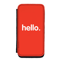 Hello Premium Faux PU Leather Case Flip Case for iPhone 5C by textGuy