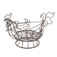 Country Rooster Basket