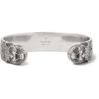 Gucci - Lion Burnished Silver Cuff