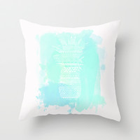 Watercolor Paradise  Throw Pillow by Sunkissed Laughter