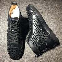 Christian Louboutin CL Louis Spikes Style #1823 Sneakers Fashion Shoes Best Deal Online