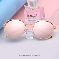 OUTMIX GOLD MIRROR PINK Oversized Round Polarized Sunglasses Women or Men Fashion Big Sun Glasses VintageGlasses For Driving UV400 FREE SHIPPING