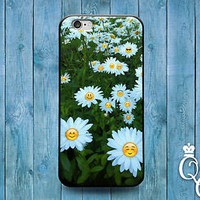 Cute Phone Case Emoji Daisy Funny Cover iPod Touch iPhone 4 4s 5 5s 5c 6 Plus +