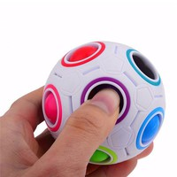 Novelty Rainbow Football Puzzle Spherical Magic Cube Toys Learning & Educational Toys For Children Kids Adult
