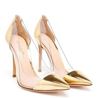 Metallic Plexi Pump - GIANVITO ROSSI
