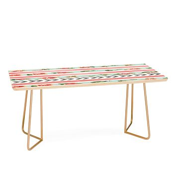 Allyson Johnson Floral Stripes And Arrows Coffee Table