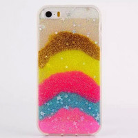 Bling Jelly Rainbow Iphone Case for 5S 6S