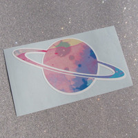 Pastel Planet Sticker - Unique Vinyl Car, Laptop Decal