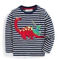 Baby Boys T shirt Children Clothing Clothes Boys Long Sleeve Tops Animal Appliques Kids T-shirts for Boy Sweatshirt