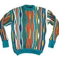 "Textured Multi-Colored ""Cosby"" Style Ugly Sweater Mens' Size Medium (M)"