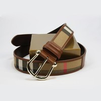 BURBERRY Men Woman Fashion Smooth Buckle Belt Leather Belt Tagre™
