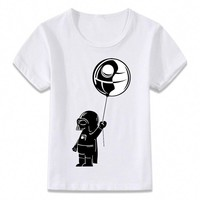 Star Wars Force Episode 1 2 3 4 5 Kids Clothes T Shirt Baby Vader and Balloon  Children T-shirt for Boys and Girls Toddler Shirts Tee AT_72_6