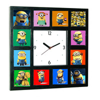 Minions Movie Clock w/ 12 Pictures NOW available in Glow In The Dark