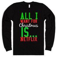 All I want for Christmas-Unisex Black T-Shirt
