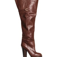 Knee-high Leather Boots - from H&M