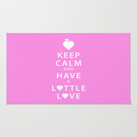 Keep Calm and Have a Lottle Love Pink Area & Throw Rug by Lottle