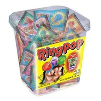 Ring Pop, Jewel Shaped Hard Candy Variety Pack, 40-Count