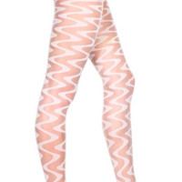 Sheer Pantyhose With Wave Pattern