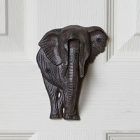 Elephant Door Knocker by Anthropologie Black One Size House & Home