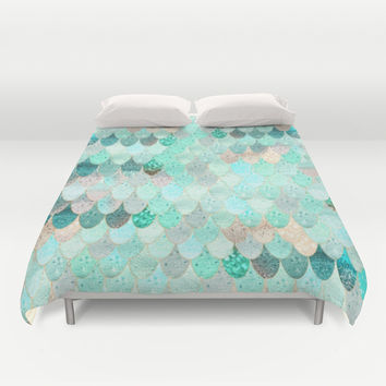 SUMMER MERMAID Duvet Cover by Monika Strigel