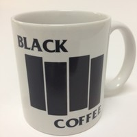 Black Coffee Mug Flag