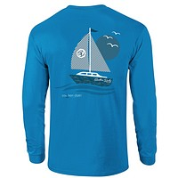 SALE Southern Darlin Sail Boat Sail Away Longsleeve Bright Girlie T-Shirt