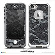 The Black Lace Texture Skin for the iPhone 5/5s or 4/4s LifeProof Case