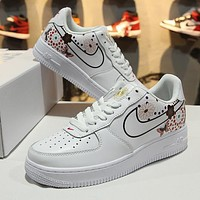 2018 Nike Air Force 1 AF1 Low CNY White Blue Tint AO9381 100 Sport Shoes
