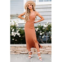 In Total Adoration Maxi Length Slip Dress (Clay Dust)
