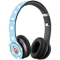 White Polka Dot on Baby Blue Skin  for the Beats Solo HD by skinzy.com